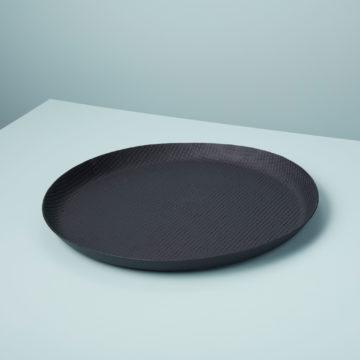 Black  Crosshatch Aluminum Tray, Extra Large