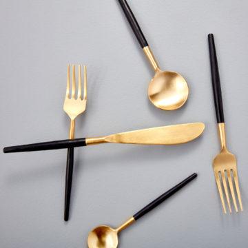 Black & Gold Flatware