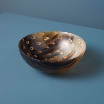 Peacock Horn Bowl, Large