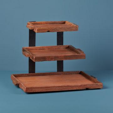 Reclaimed Wood 3 Tier Tray