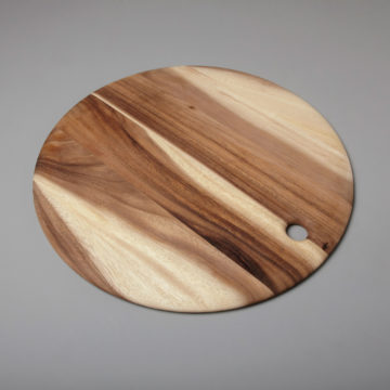 Acacia Round Board with Tapered Edge, Extra Large