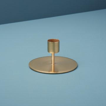 Gold Taper Candle Holder, Short