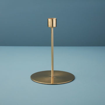 Gold Taper Candle Holder, Tall