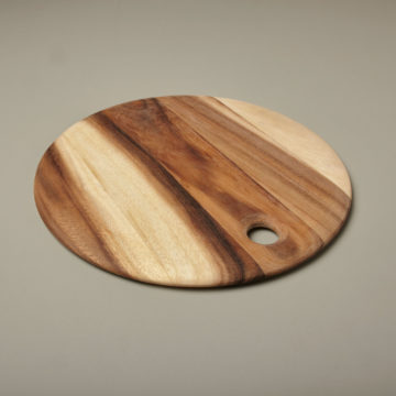 Acacia Round Board with Tapered Edge, Medium