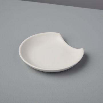 Stoneware Spoon Rest, White