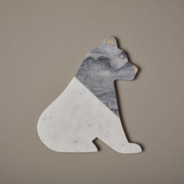 White & Gray Marble Bear Board