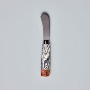 Zebra Marble & Wood with Onyx Spreader