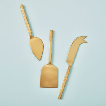 Forged Gold Cheese Set