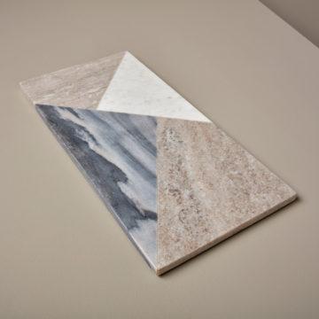 Geometric Marble Rectangular Board