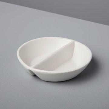 Stoneware Divided Cellar, White