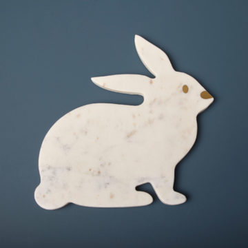 White Marble Bunny Board
