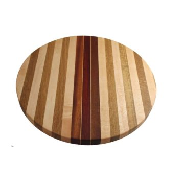 American Made Round Striped Board with Feet