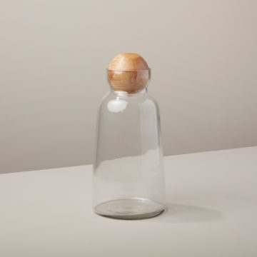 Glass & Mango Wood Decanter