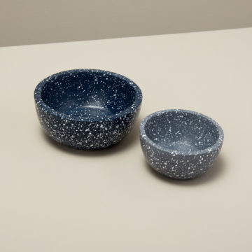 Speckled Cement Nesting Bowls, Set of 2, Midnight/Slate