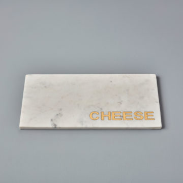 White Marble & Gold ?Cheese? Board