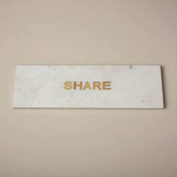 White Marble & Gold ?Share? Board