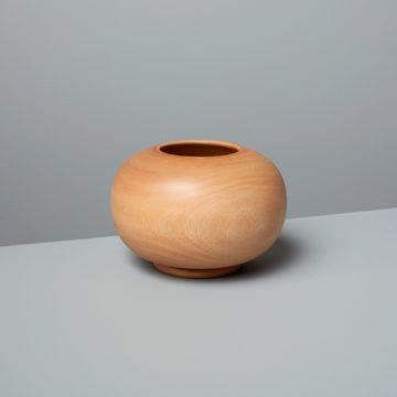 Kiln Mango Wood Round Vase