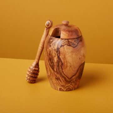Olive Wood Honey Jar