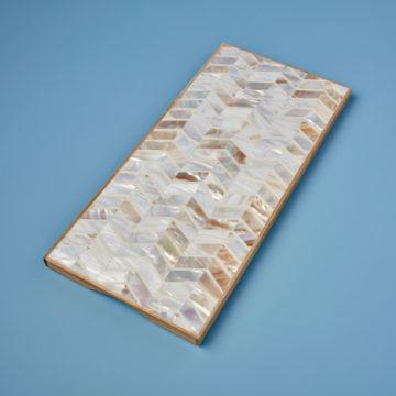 Shell Mosaic & Bamboo Rectangular Board
