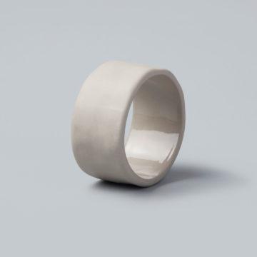 Stoneware Napkin Ring, Sterling