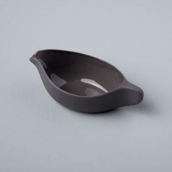 Gold Rim Stoneware Pasta Bowl, White