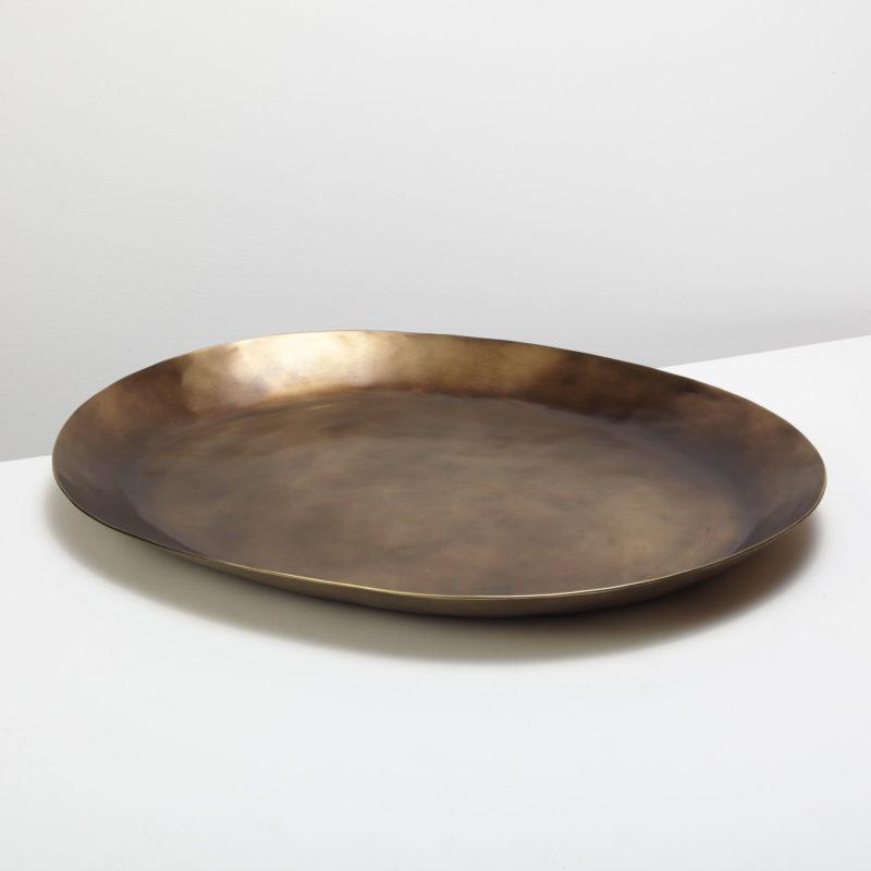 Cobbled Antique Bronze Platter