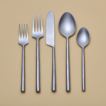 Hammered Stainless Flatware Set