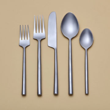 Frosted Stainless Flatware Set