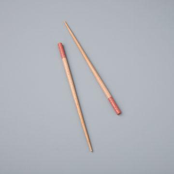 Carved Resin & Wood Chopsticks, Rose