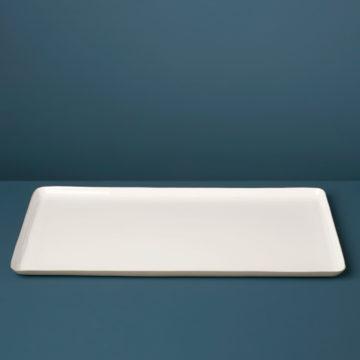 Dove Aluminum & Enamel Oversized Rectangular Tray