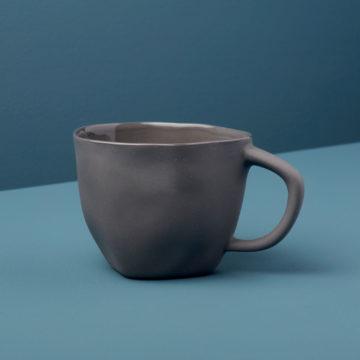 Stoneware Cappuccino Cup, Slate
