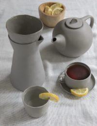 Stoneware Carafe Sterling 2