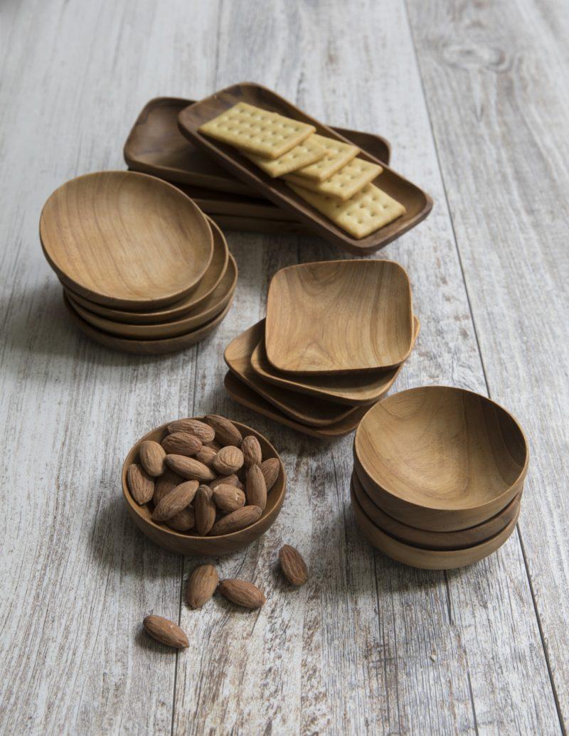 Teak Square Bowls Set of 4