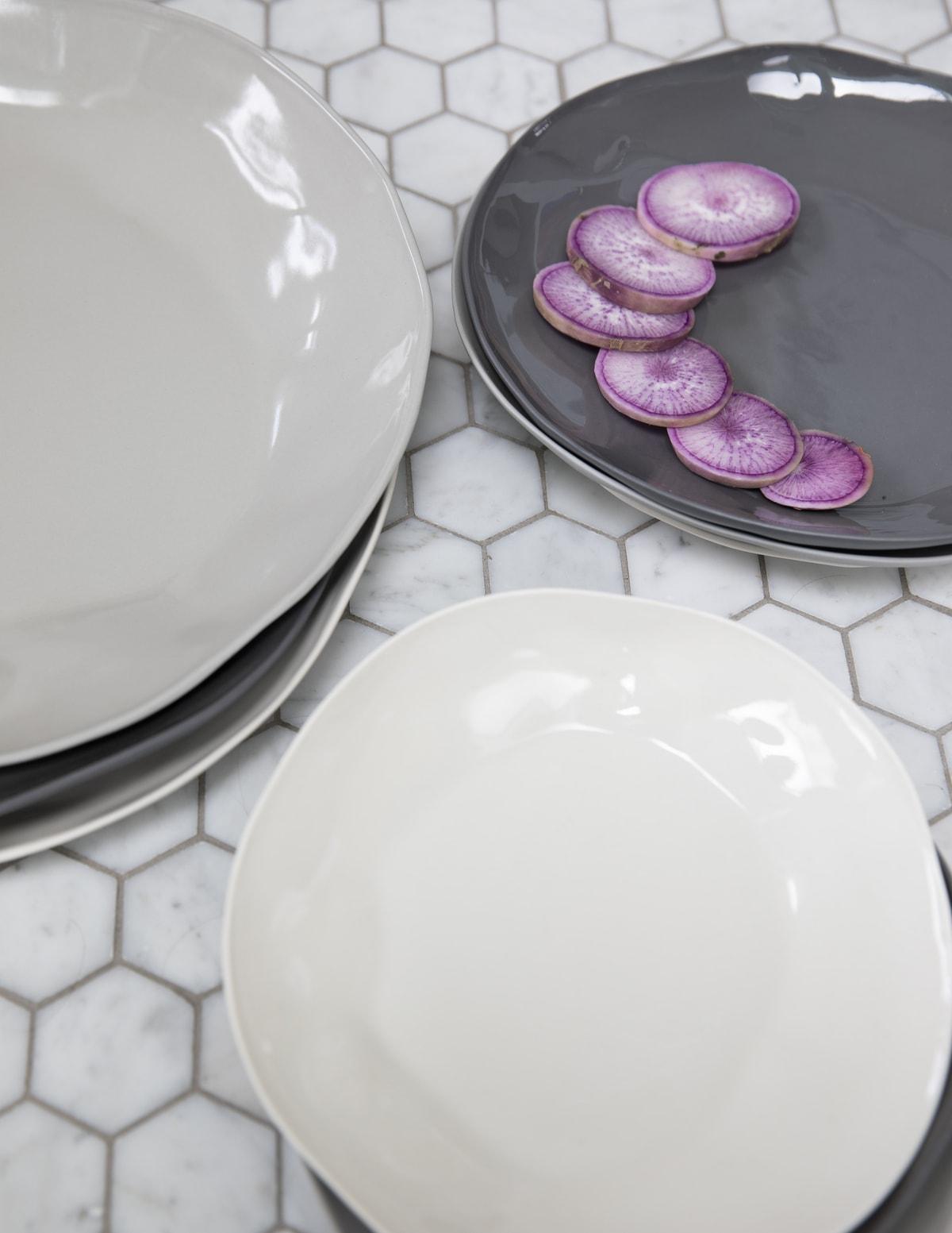 Stoneware Flat Plate Slate Large 5