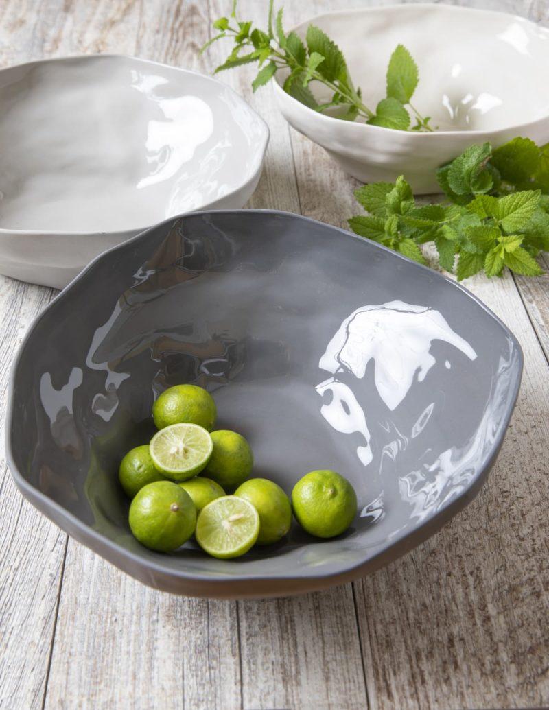 Stoneware Bowl White, Medium