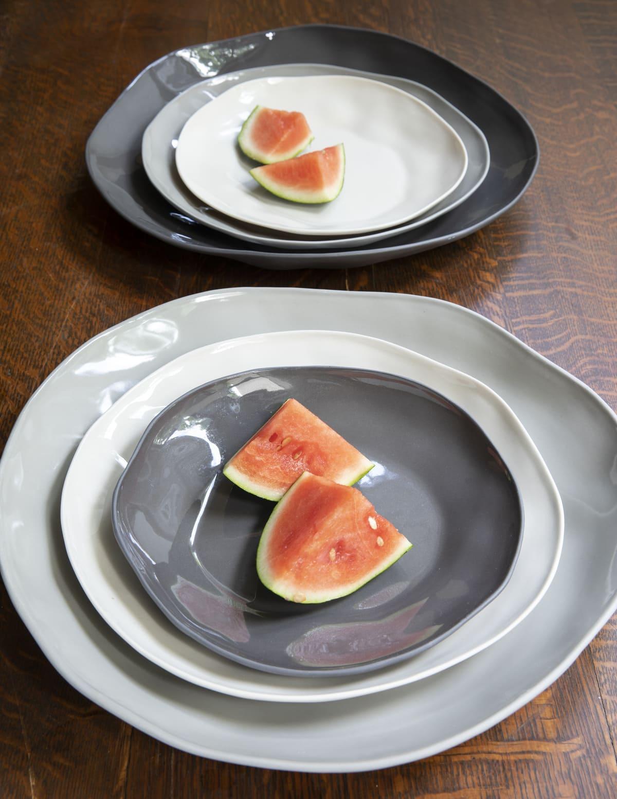 Stoneware Flat Plate Sterling Medium 3