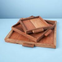 Reclaimed Wood Tray Square, Large 3