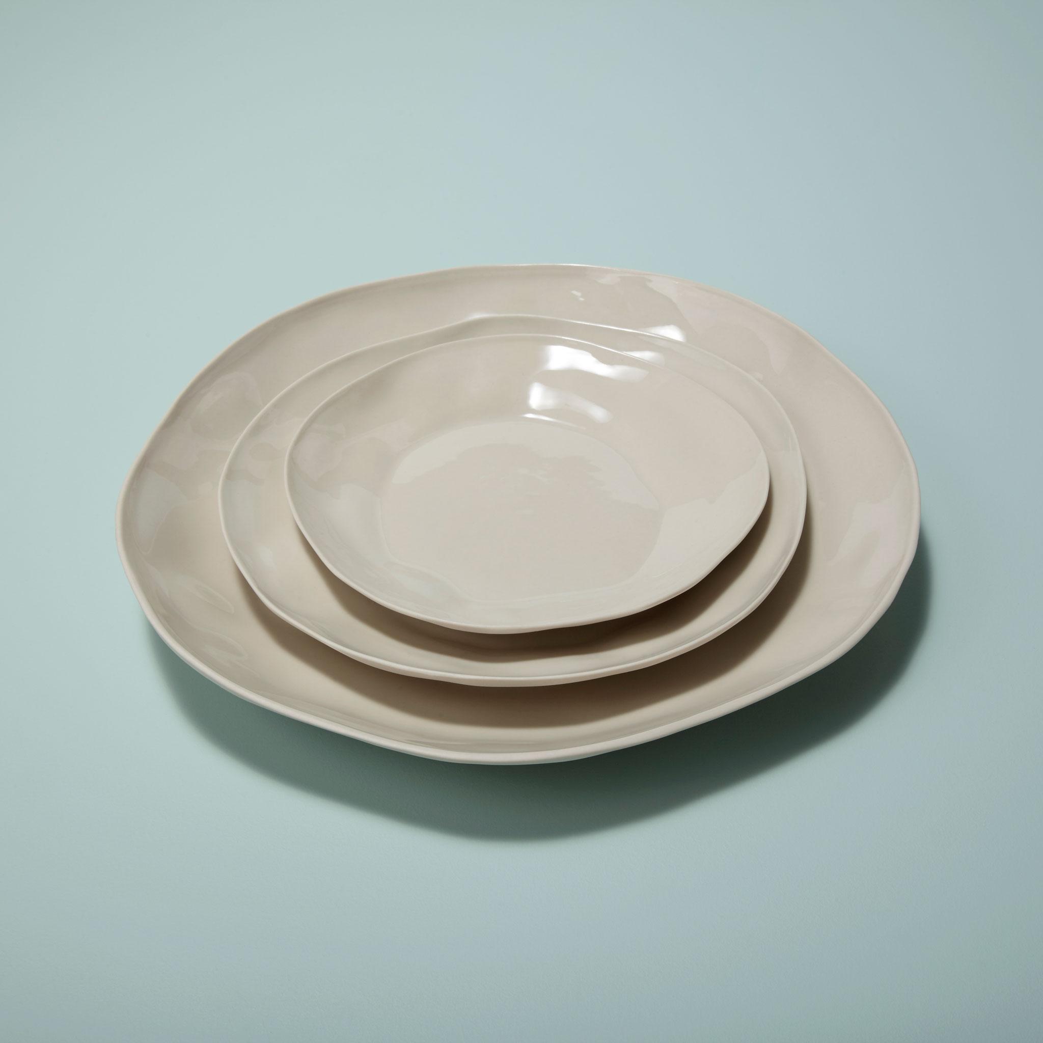 Stoneware Platter White 6