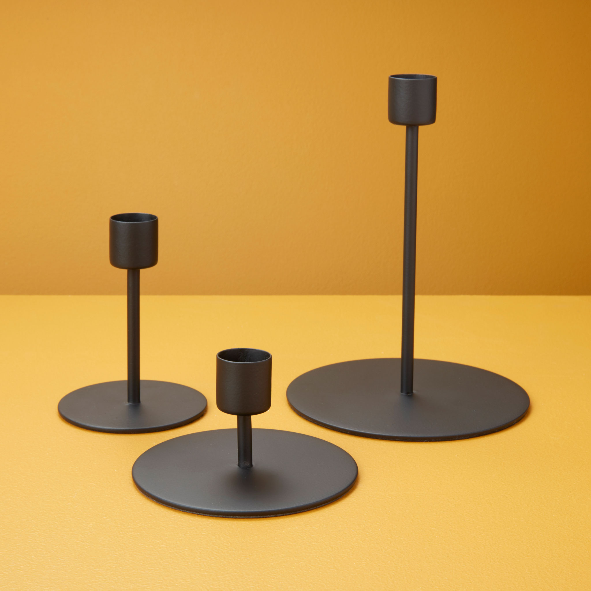 Black Taper Candle Holder, Tall 2