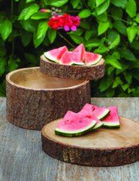 Mango Wood Salad Bowl with Bark Large 2