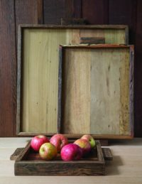 Reclaimed Wood Tray Square, Small 2