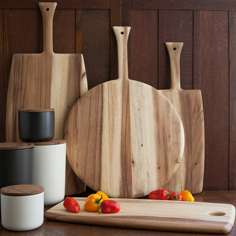 GI & Wood Cheese Set of 3, on baker?s card