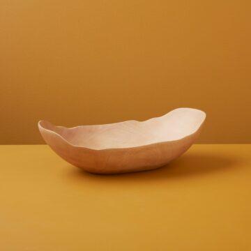 Kiln Mango Wood Petal Bowl, Small