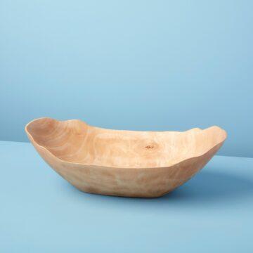 Kiln Mango Wood Petal Bowl, Large