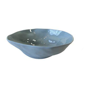 Stoneware Bowl Blue Medium