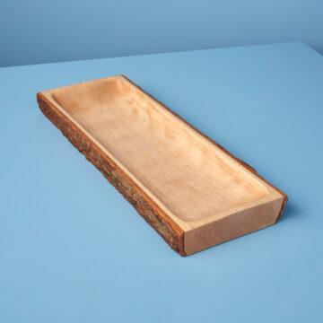 Kiln Mango Wood with Bark Rectangular Platter