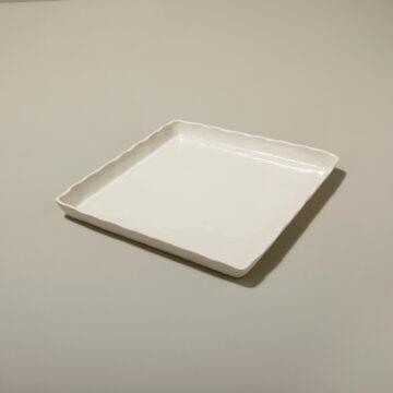 Stoneware Square Tray White Medium